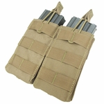 Condor MOLLE Double M4/M16 Open Top Magazine Pouch, Tan