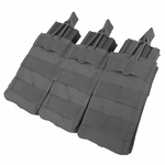 Condor MOLLE Triple M4/M16 Open Top Magazine Pouch, Black