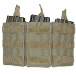 Condor MOLLE Triple M4/M16 Open Top Magazine Pouch, OD Green