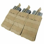 Condor MOLLE Triple M4/M16 Open Top Magazine Pouch, Tan