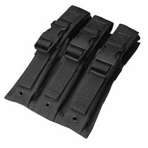 Condor MOLLE Triple MP5 Magazine Pouch, Black
