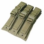 Condor MOLLE Triple MP5 Magazine Pouch, OD Green