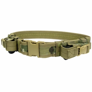 Condor Tactical Belt with Dual Pistol Mag Pouches, Multicam