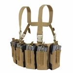 Condor US1051 Barrage Chest Rig, Brown