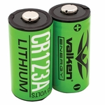CR123A 3V Lithium Batteries by Valken Energy, 2-pack