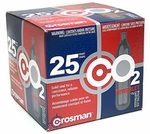 Crosman 12 Gram CO2 (25 Cartridges) - GROUND SHIPPING ONLY