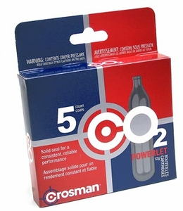 Crosman 12 Gram CO2 ( 5 Cartridges) - GROUND SHIPPING ONLY