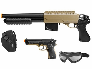 Crosman Recon Airsoft Kit, Brown/Black