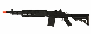 CYMA M14 EBR RIS FULL METAL AEG Airsoft Rifle with Crane Stock, Black