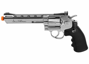 "Dan Wesson 6"" CO2 Airsoft Revolver, Silver"