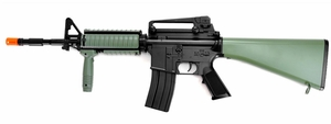 Dboys M16A4 Style Green Stock RIS Airsoft Rifle
