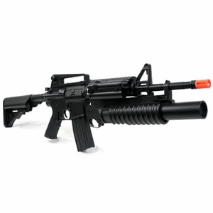 Dboys M4A1 Style Airsoft Rifle Kit w/ Launcher, Stocks, and Grips