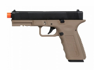 Echo1 Lone Wolf Timberwolf Gas Blowback Airsoft Pistol, Tan/Black
