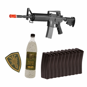 Elite Force M4A1 AEG Rapid Assault Kit w/ 10 Mags, 5,000 BBs