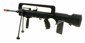 FAMAS Machine AEG, Black Airsoft Rifle by Cybergun