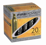 Firepower 12G CO2 Cartridges, 20 Pack - GROUND SHIPPING ONLY