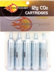 Firepower 12G CO2 Cartridges, 5 Pack - GROUND SHIPPING ONLY