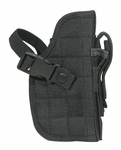 FIREPOWER Deluxe Tactical Belt Holster, Black, Right Handed