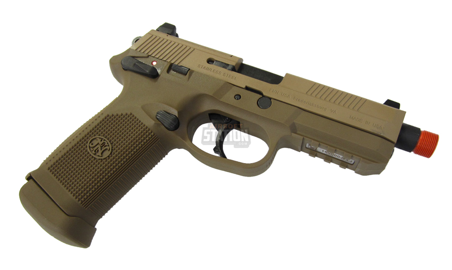 Fn herstal fnx 45 tactical metal gas blowback airsoft pistol