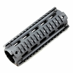 Raptors Airsoft RTQ Metal 6'' Two Piece RIS Quad Rail Hand Guard Unit For M4 AEGs