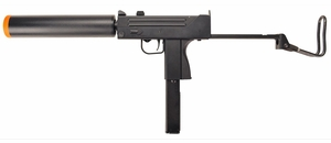 Full Auto Mac 11 Style Green Gas Airsoft Gun with Suppressor by HFC