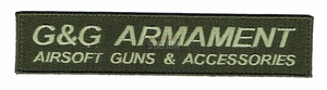 G&G Armament Official Velcro Patch, Long, OD