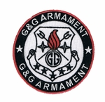 G&G Armament Official Velcro Patch, Round, Red/Black