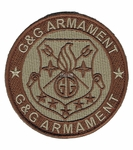 G&G Armament Official Velcro Patch, Round, Tan
