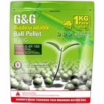 G&G Biodegradable Airsoft BBs, 0.20g, 1KG, 5000 Rounds