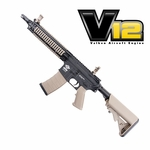 G&G CM18 MOD1 Two-Tone Black/Tan Powered by Valken V12 Engine