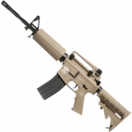 G&G Combat Machine CM16 Carbine, Gas Blowback Airsoft Rifle, Version I - Tan - REFURBISHED