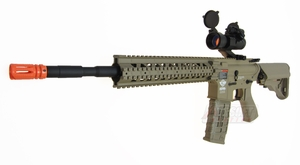 G&G Combat Machine CM16 R8-L AEG Airsoft Rifle, Desert Tan