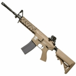 G&G Combat Machine CM16 Raider L, Gas Blowback Airsoft Rifle, Tan, Version I