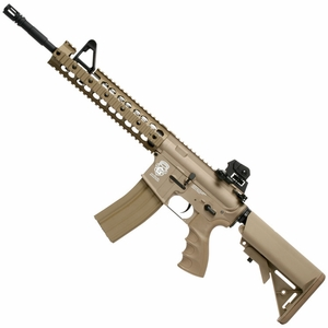 G&G Combat Machine GR15 Raider XL AEG Airsoft Rifle, Blowback, Tan