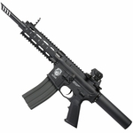 G&G Combat Machine GR16 CQW WASP Blowback AEG Airsoft Gun, Black