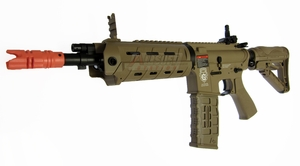 G&G Combat Machine GR4 G26 Advanced Blowback AEG Airsoft Gun, Tan