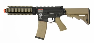 G&G GR4 CQB-S MINI AEG Airsoft Gun with Blowback, Black/Tan