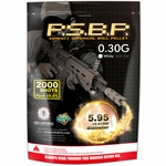 G&G Perfect Spherical BBs, 0.30g, 2000 Rounds, White