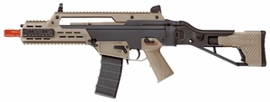 ICS G33 AEG Airsoft Rifle, ICS-235 Two-Tone, Black & Desert Tan