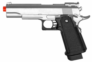 Galaxy G6 Full Metal 1911 Style Airsoft Pistol, Silver