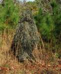 Ghillie Paintball Ultra Light Synthetic Poncho Woodland