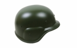 Green Plastic Airsoft Helmet with Strap