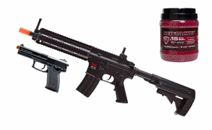 H&K 416 Combat Kit, Full Auto Rifle and Spring Pistol & 10,000 BBs