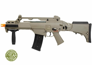 H&K G36CV AEG Airsoft Rifle, Dark Earth Brown