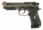 HFC Full Metal M9 Style Co2 Pistol with Blowback, Full/Semi Auto, Dual Tone