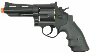 "HFC HG-132 4"" Barrel Gas Revolver, Black"