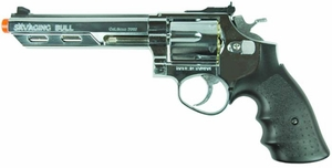 "HFC HG-133 Savaging Bull 6"" Barrel Gas Revolver, Silver"