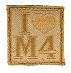 I Heart M4 Tan and Desert Tan Velcro Patch
