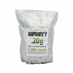 Infinity Precision Airsoft BBs, 0.20g, 5000 ct Bag