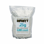 Infinity Precision Airsoft BBs, 0.25g, 4000 ct Bag